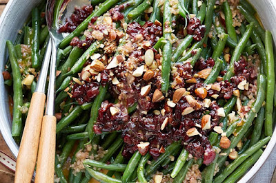 Green beans with cherry vinaigrette  meal ideas