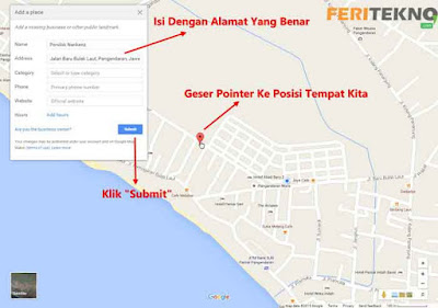 mendaftarkan alamat ke google maps - Feri Tekno