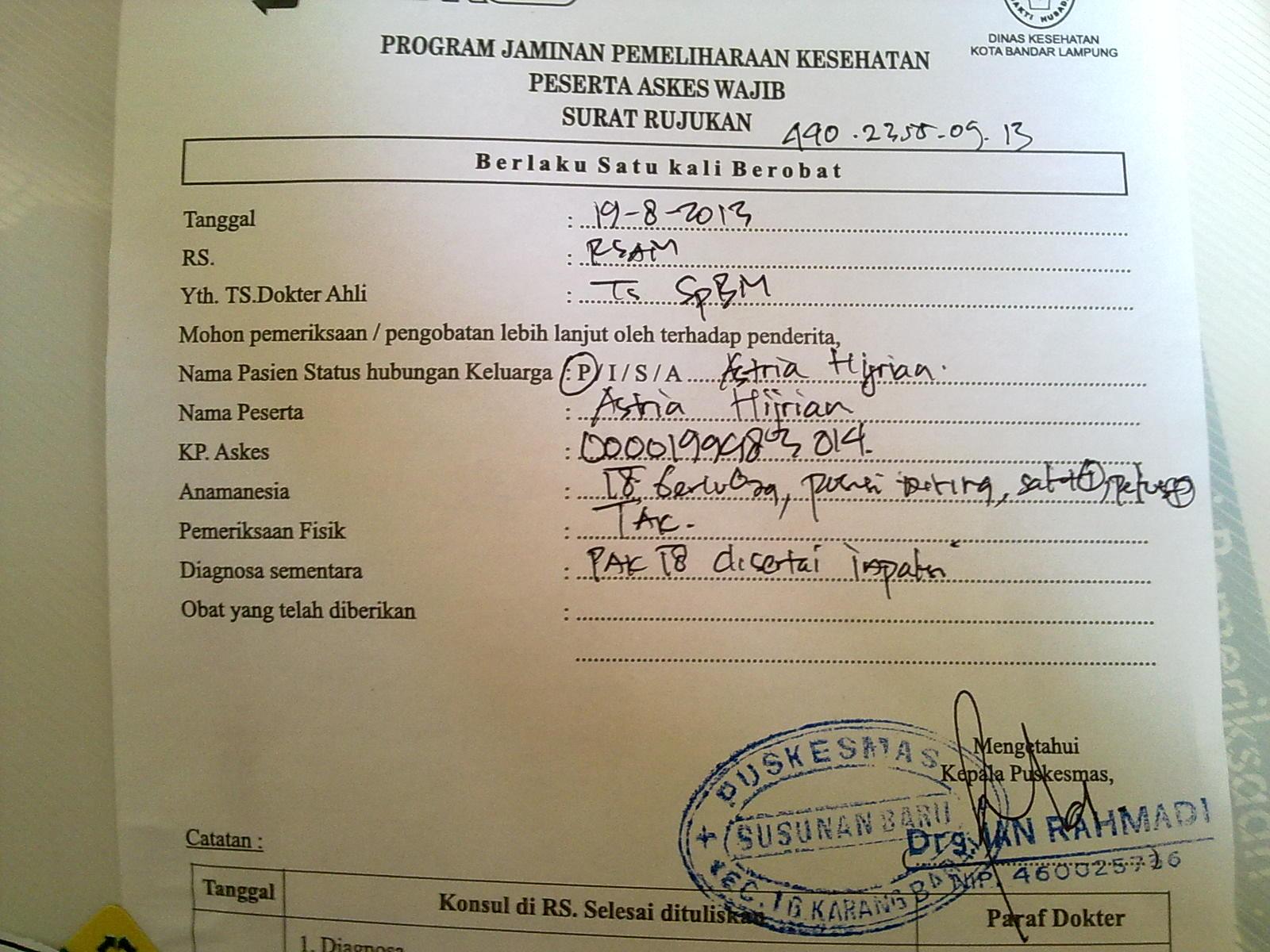 Contoh Surat Pendelegasian Dokter Ke Perawat
