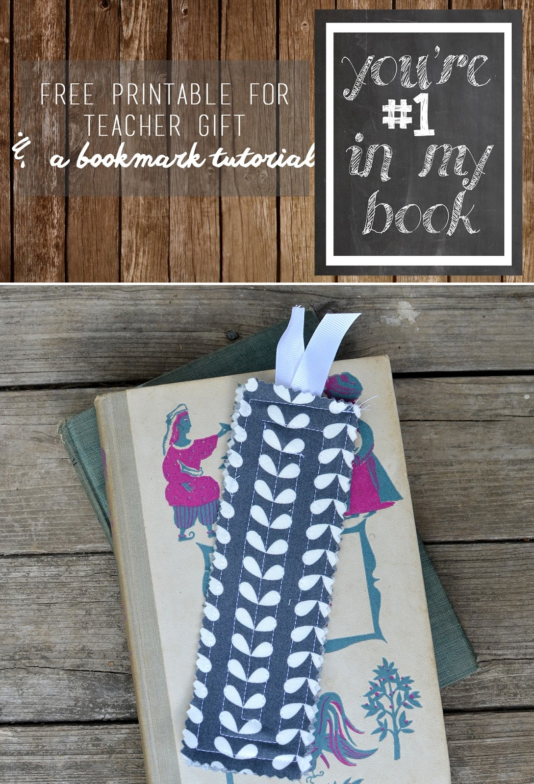 Free printable for teacher gift and bookmark tutorial