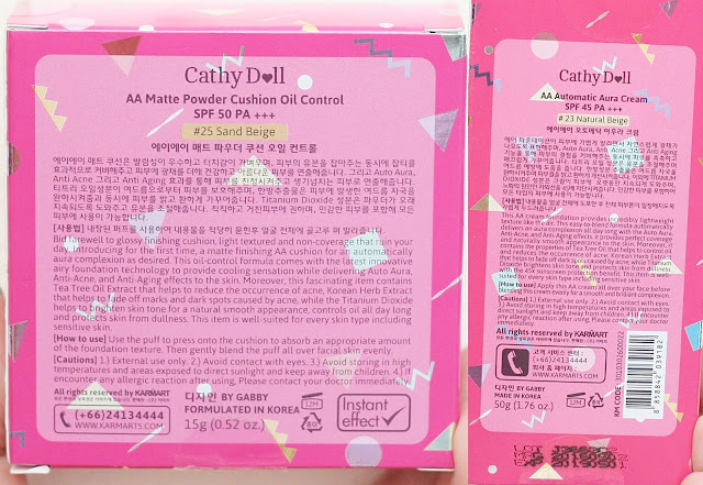 a photo of Cathy Doll AA Automatic Aura Cushion and Cream