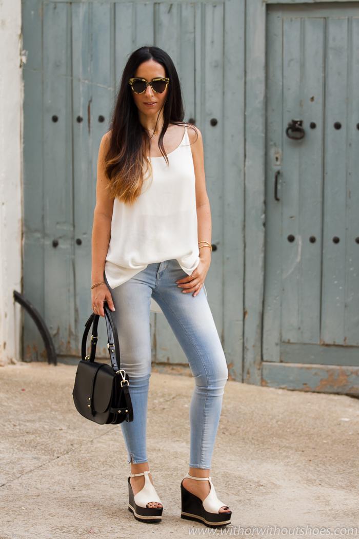 Verano AglWith Or Sandalias Jeans Meltin' De Pot Y Plataforma Con CdxrBeo