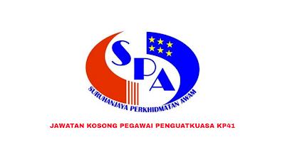 Permohonan Jawatan Kosong Pegawai Penguatkuasa KP41 2019