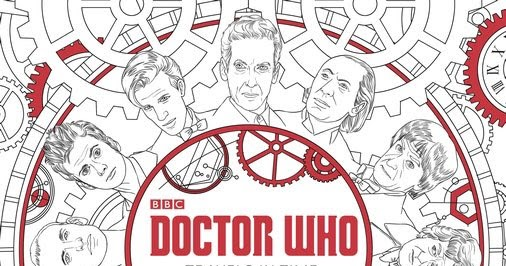 Doctor Who Colouring And Dot To Doc Books Available Pre Order