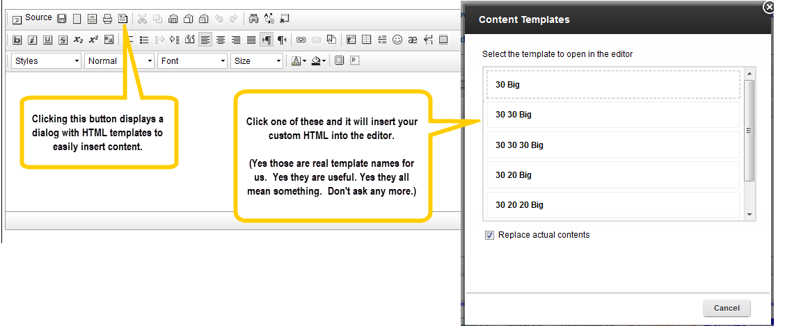 Add Custom HTML Templates to Your CKEditor | XPage Tips