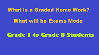 What is a Graded Home Work and Exams Mode from Grade one to Grade Eight?  Press Conference of provencial Education Minister