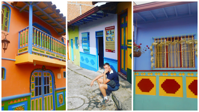 Guatape colorful houses
