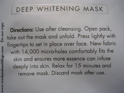 Neutrogena Fine Fairness Deep Whitening Mask - Review