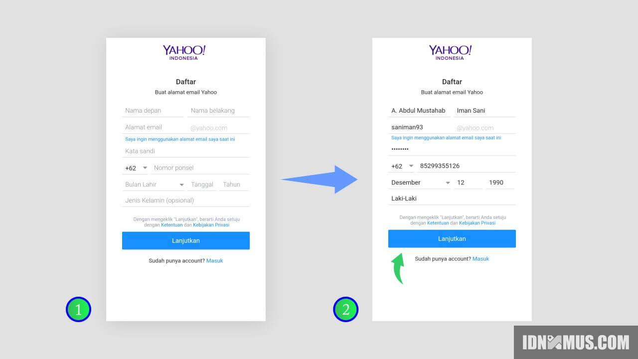 Cara Buat Akun Yahoo Mail