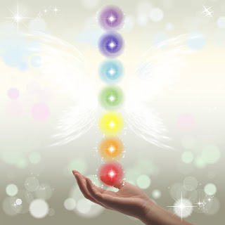 Chakras with angel wings