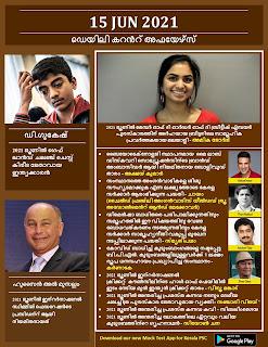Daily Malayalam Current Affairs 15 Jun 2021