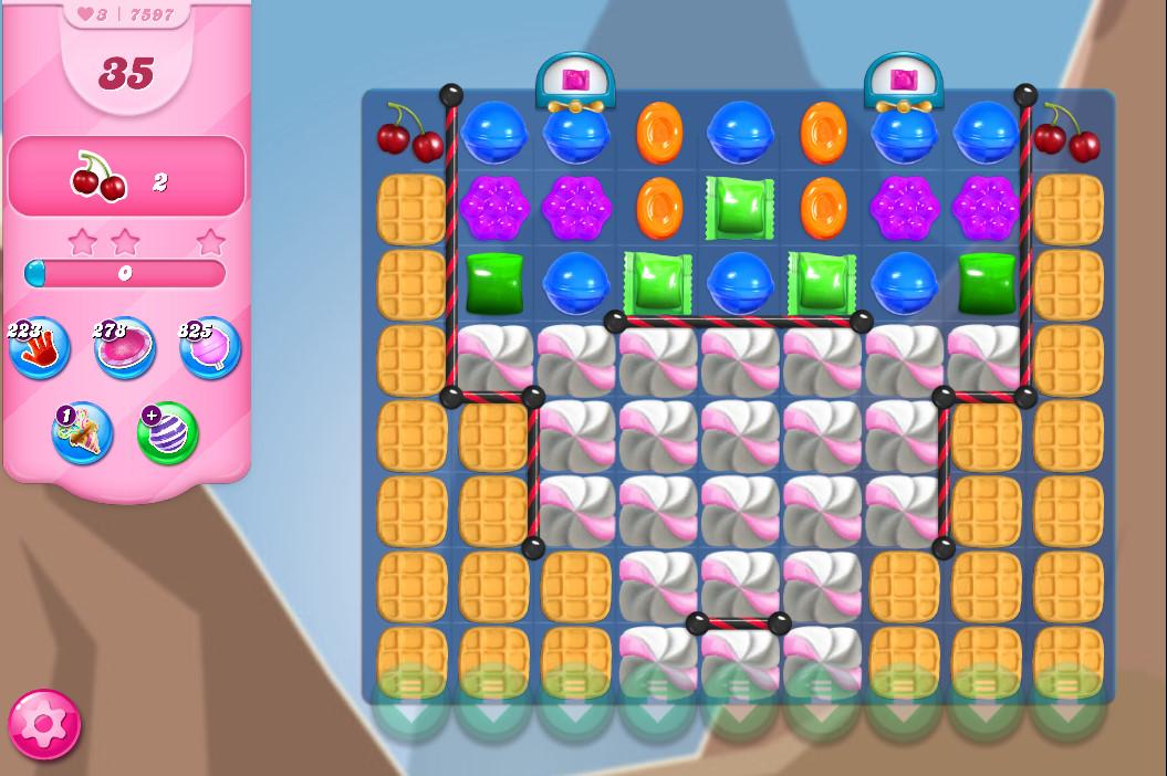 Candy Crush Saga level 7597