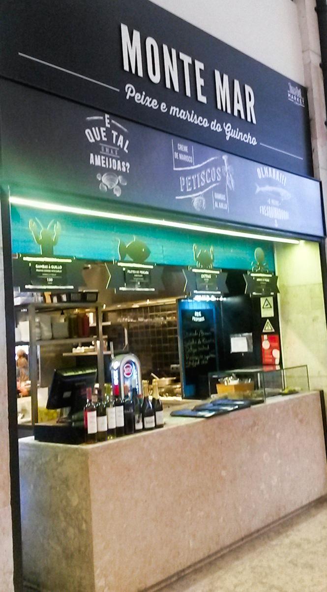 Restaurantes del Mercado Da Ribeira en Lisboa, Portugal 4