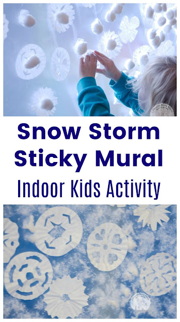 Irresistible Fun with a Snow Storm Sticky Mural