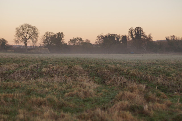 winter sunsets and mist in the Norfolk countryside