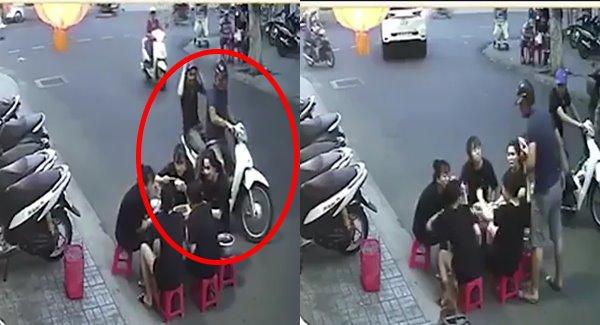 Clip 2 thanh niên lao vào đánh gái giữa đường khi trêu gái bị phản ứng