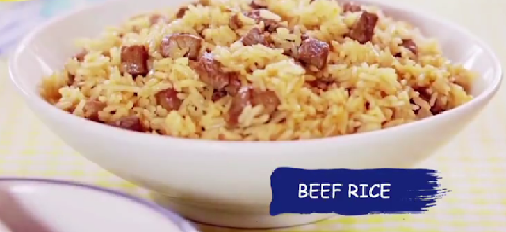 Easy and Delicious Margarine Beef Rice Recipe