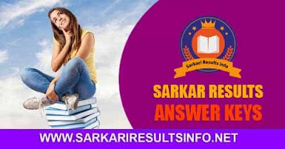 Sarkari Results Info Latest Answer Keys 2020