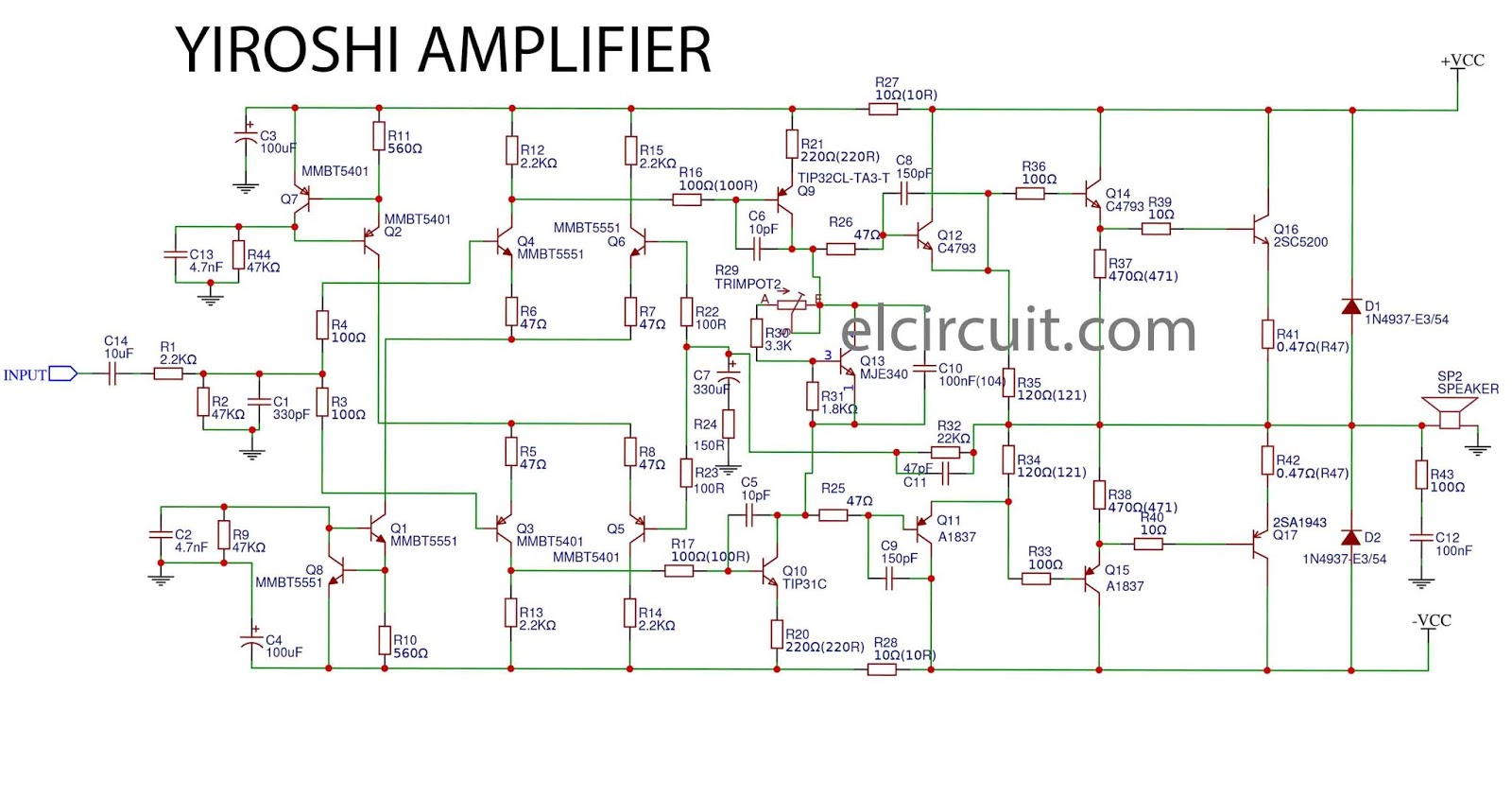 Yiroshi Power Amplifier Smd Electronic Circuit
