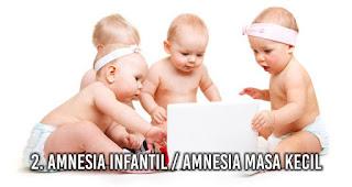 2. Amnesia infantil / Amnesia Masa KeciL