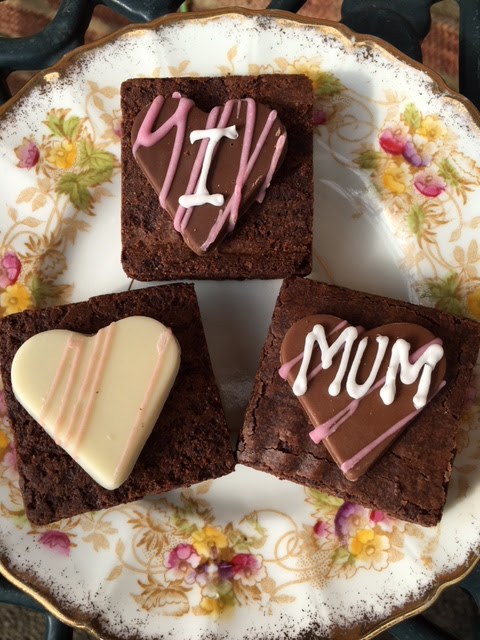 I Love Mum mothers day choice brownies