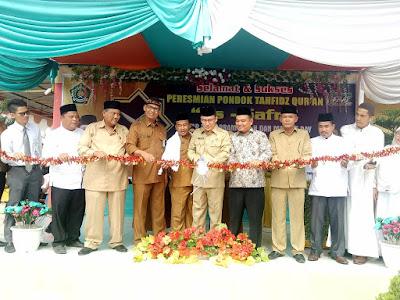 Kakankemenag Resmikan Pondok Tahfidz Qur'an As-Safri MAN Tanjungbalai