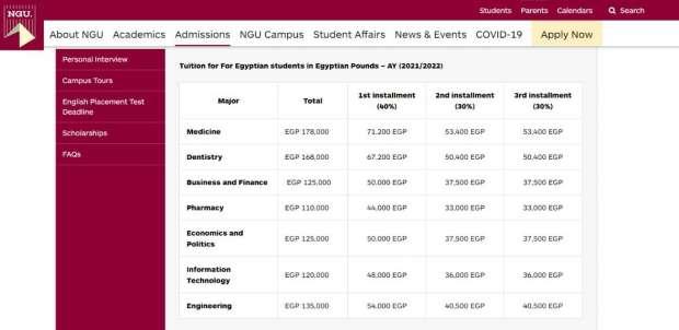 اسعار الجامعات الخاصة 2021 / 2022 |  أرخص 6 كليات في الجامعات الخاصة 4