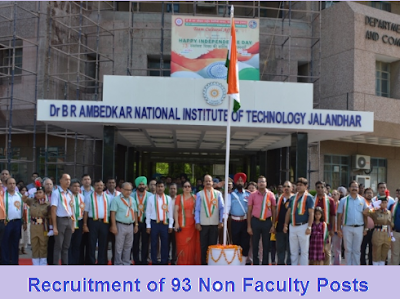 Recruitment of 93 Non Faculty Posts in National Institute of Technology Jalandhar