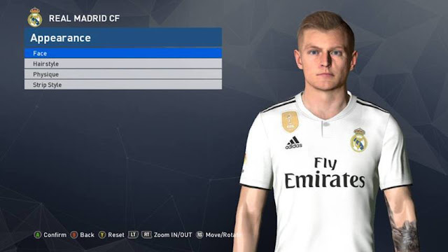 Toni Kroos New Face PES 2017