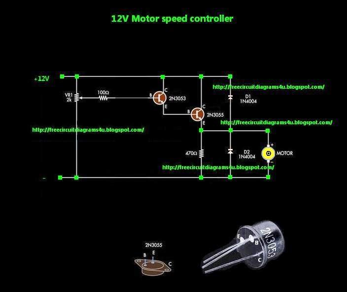 FREE CIRCUIT DIAGRAMS 4U: simple motor speed controller ...