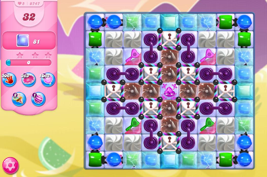 Candy Crush Saga level 8747