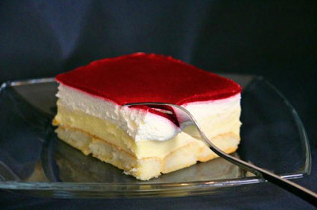 Backrezepte : Himbeer-Puddingcreme Schnitten (Kuchen ohne ...