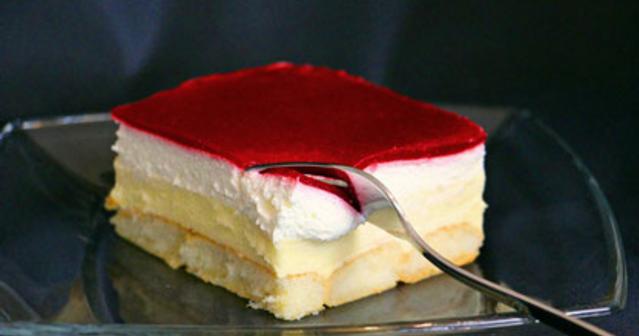 Backrezepte himbeer puddingcreme schnitten kuchen ohne for Kuchen ohne elektrogerate