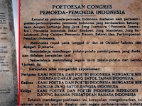 Sumpah Pemuda 28 oktober 1928 : Isi Materi Kalimat Naskah Teks Ikrar Asli dan Ejaan Baru