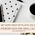 My first Affiliate Sale from my new and small blog