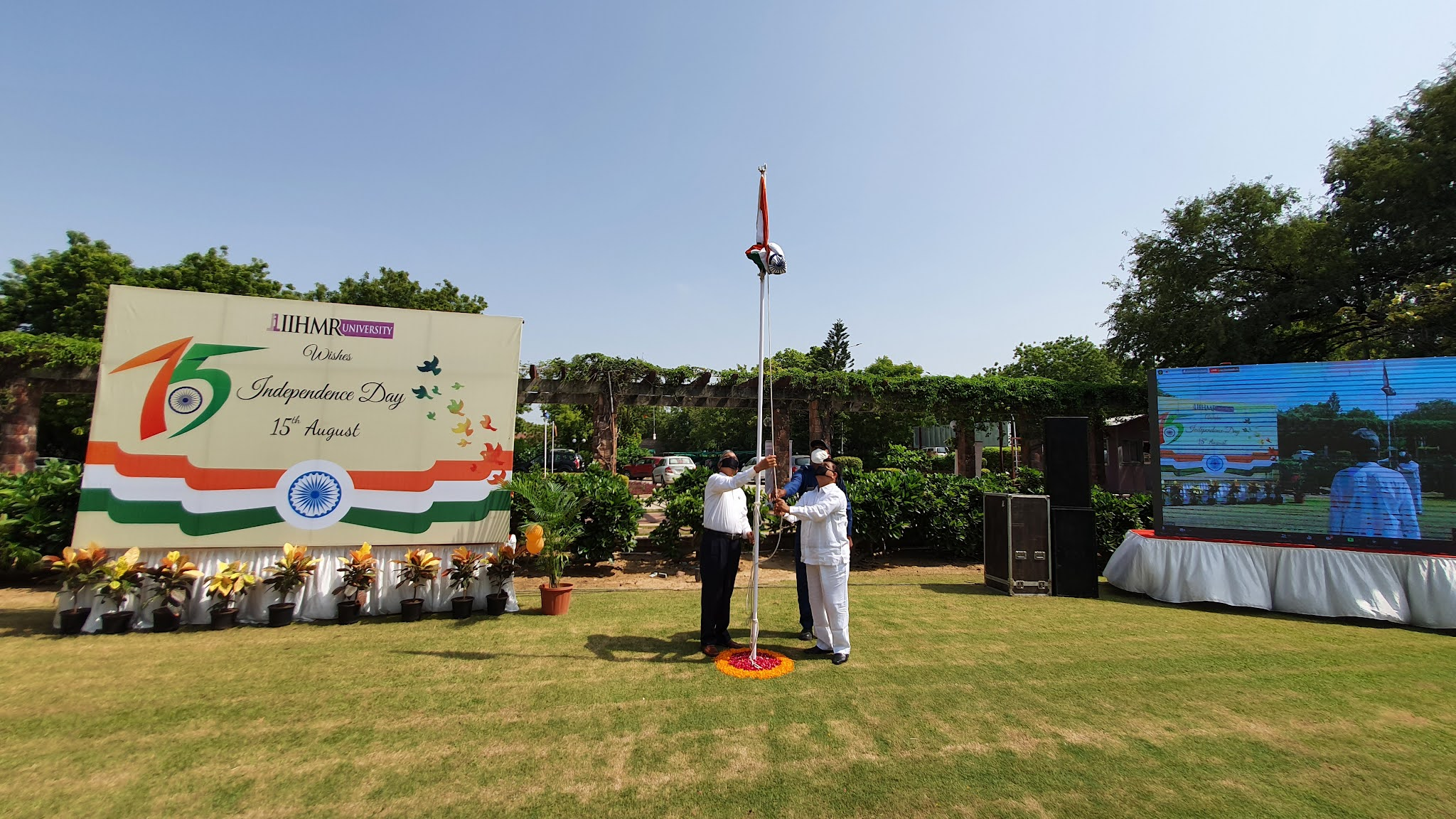 75th Independence Day Celebrated with a noble cause of tree plantation at IIHMR University, Jaipur