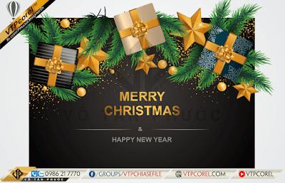 Phông nền giáng sinh - Merry Christmas nền đen sang trọng