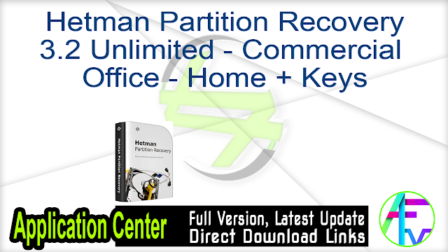 Hetman Partition Recovery 3.2 Unlimited – Commercial – Office – Home + Keys