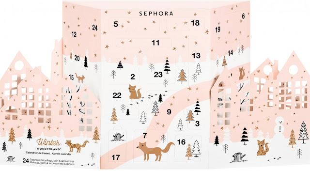Kalendarz adwentowy Winter Wonderland marki Sephora 2017