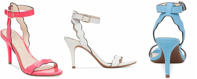 Jessica Simpson Morena Two-Piece Scallop Sandals $45 (reg $89)