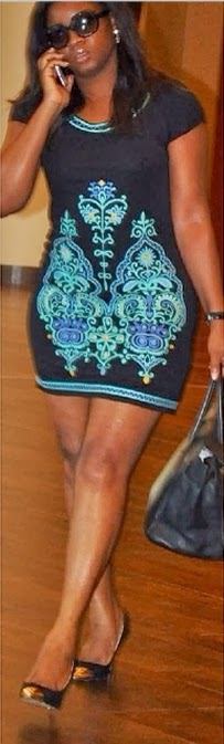 Omotola jalade mini dress ghana