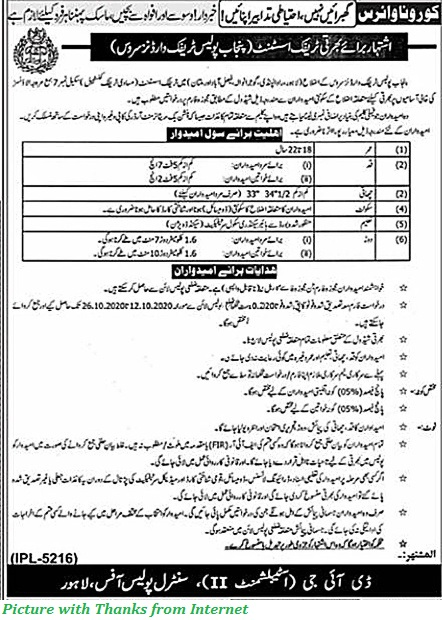 Punjab Police Traffic Wardon Jobs 2020 - Latest Traffic Police Jobs in Punjab 2020 Apply for Punjab Police Jobs October 2020