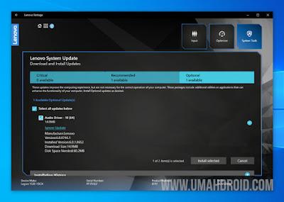 Memperbarui BIOS Lenovo di Windows 10