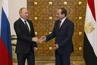 Egypt: Putin arrived in Cairo to hold talks with Egyptian President Al Sisi