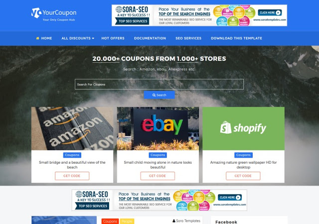 Your Coupon blogger template free download