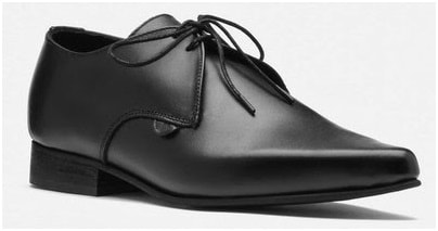 Black leather winkle-picker shoes