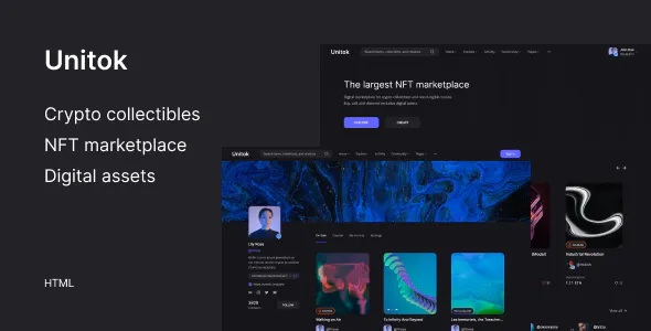 Best NFT Marketplace HTML Template