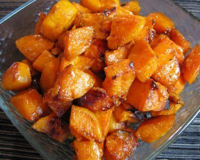 Roasted Sweet Potatoes With Cinnamon