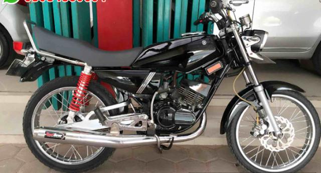 Modifikasi Motor Modifikasi Yamaha Rx King Warna Hitam