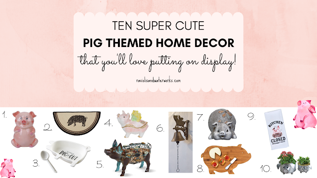 pig trinkets decorations and home good items